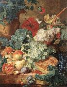 HUYSUM, Jan van Fruit Still-Life s oil painting artist